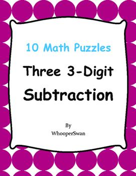 Three 3-Digit Subtraction Puzzles