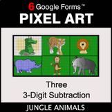Three 3-Digit Subtraction - Pixel Art Math   Google Forms