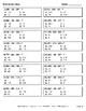 Three 3-Digit Subtraction Quiz - Test - Assessment - Worksheet