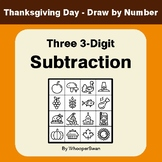 Thanksgiving Math: Three 3-Digit Subtraction - Math & Art