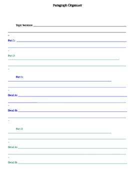 Three 3 Paragraph Graphic Organizer Expository
