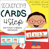 Four / 4 step sequencing picture cards / stories