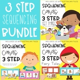 Three / 3 step sequencing picture cards / stories bundle