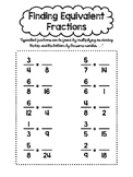 Three 4.NF Fraction Worksheets