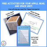 Three Activities From Three Thematic Units - apples, bears, space FREE