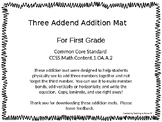 Three Addend Addition Mats