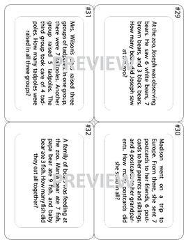 Three Addends Word Problem Task Cards