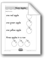 Three Apples (letter/sound association for 'a')