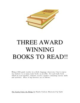 Three Award Winning Books