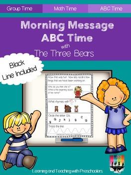 Three Bear Morning Message