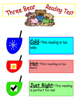 Three Bear Reading Fluency (difficulty check-in)