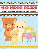 Three Bears Literacy and Math Activities for Preschool and Kindergarten