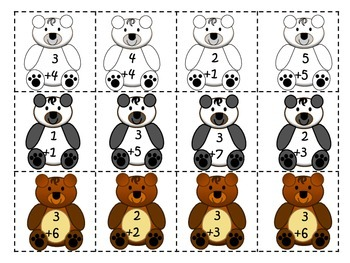 Addition Game - Bears