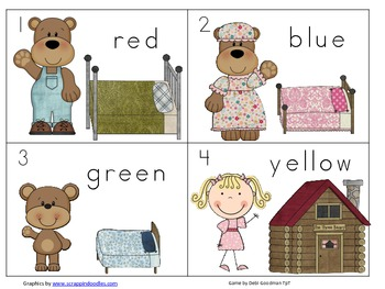 Three Bears Color and 2-d Shape Read the Room