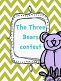 Three Bears Coloring Contest Beginning of the Year Kindergarten