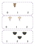 Three Bears  Counting clip cards