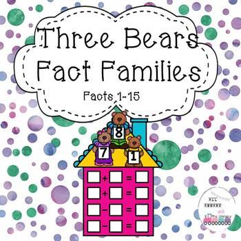 Three Bears Fact Families