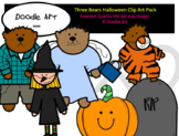 Three Bears Halloween Clip Art Pack