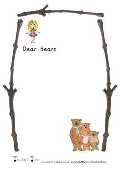 Three Bears Letter