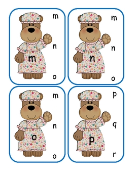 Three Bears Lower to Lower Clip Cards