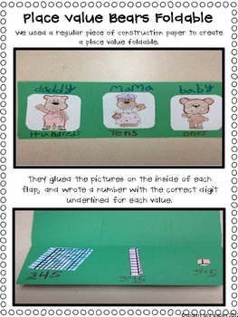 Three Bears Place Value