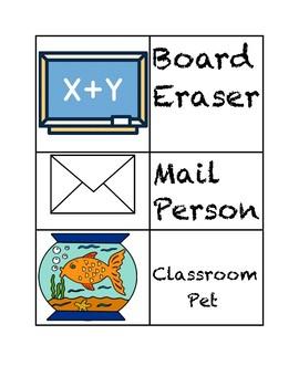 Three Bee's Classroom Rules and Job Chart