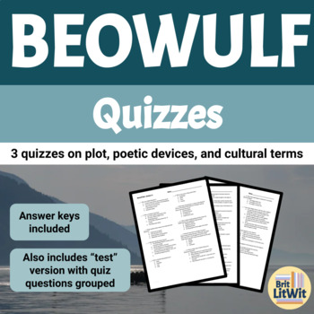 Three Beowulf Quizzes with Answer Keys