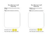 Three Billy Goat's Gruff engineering half-sheet