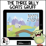 Three Billy Goats Boom Cards™ Story & Activities Wh-Questi