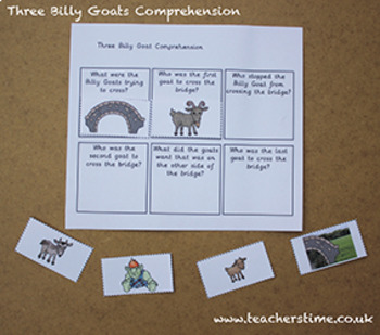 Three Billy Goats Comprehension