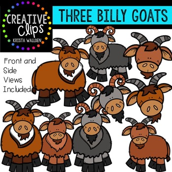 Three Billy Goats {Creative Clips Digital Clipart}