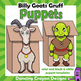 Three Billy Goats Gruff Craft Activity | Paper Bag Puppet Templates