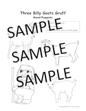 Three Billy Goats Gruff Character and Puppet Worksheet