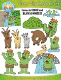 Three Billy Goats Gruff Fairy Tale Clipart {Zip-A-Dee-Doo-Dah Designs}