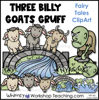 Three Billy Goats Gruff Clip Art by Whimsy Workshop Teaching | TpT