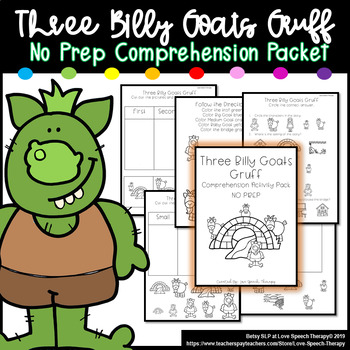 Three Billy Goats Gruff - Comprehension Pack
