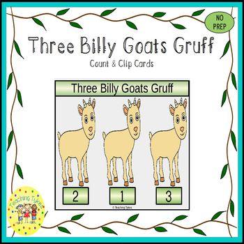 Three Billy Goats Gruff Clip Task Cards