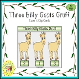 Three Billy Goats Gruff Fairy Tales Count and Clip Task Cards