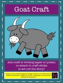 Three Billy Goats Gruff Craft Pack (Fairy Tales)