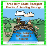 Three Billy Goats Gruff Emergent Reader / Reader's Theater Activity