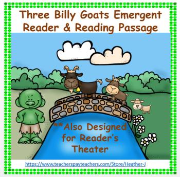 Three Billy Goats Gruff Emergent Reader Reading Passage