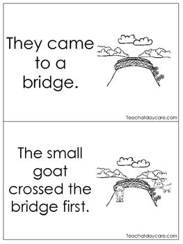 Three Billy Goats Gruff Emergent Reader. Pre-k, Kindergarten, 1st Grade Reading.