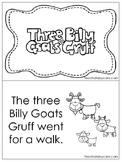 Three Billy Goats Gruff Emergent Reader. Pre-k, Kindergart