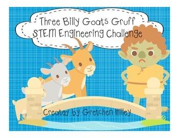 Three Billy Goats Gruff Engineering STEM challenge