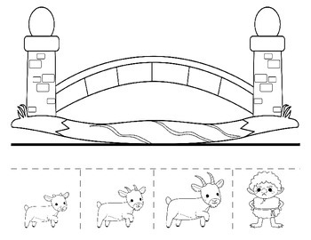 Three Billy Goats Gruff Fairy Tale - Interactive dramatic play storyboard mat