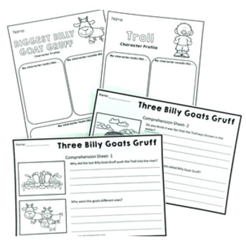 Fairy Tale Activity Pack: Three Billy Goats Gruff Reading, Writing & Sequencing