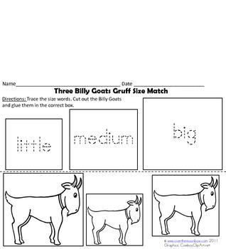 Three Billy Goats Gruff Folktale Resource Pack