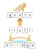 Three Billy Goats Gruff Letter Tiles Spelling Mat