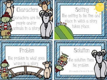 Three Billy Goats Gruff - Literacy and Math Activities for Kinder