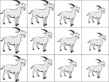 Three Billy Goats Gruff Manipulatives